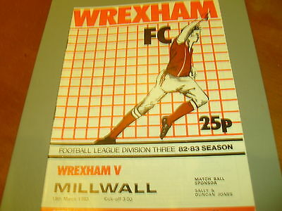 Wrexham v Millwall 82/83