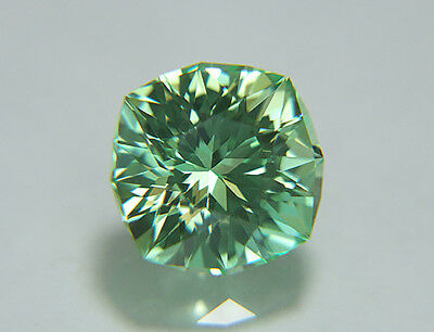Green Sapphire. Lab Grown. Square Cushion Cut.10mm. 5.55cts. Super Stone