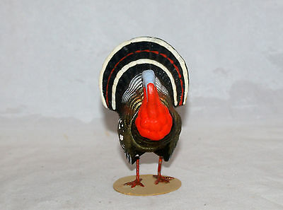 Small Antique Thanksgiving Tom Turkey Candy Container German Germany Composition