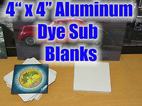 """50PCs 4""""X 4"""" HIgh Gloss Dye Sublimation Blanks with Rounded Corners"""