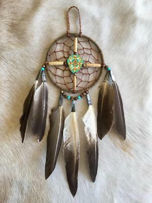 "New Native American Navajo Dream Catcher Medicine Spirit Wheel 4"" Collectible 12"