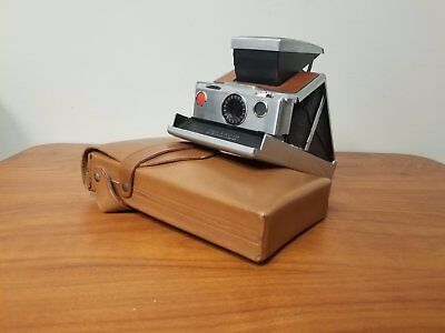 Vintage Polaroid SX-70 Land Camera in Leather Case Tested Working