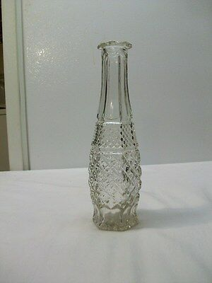 Vintage Anchor Hocking Wexford Clear Glass Bud Vase
