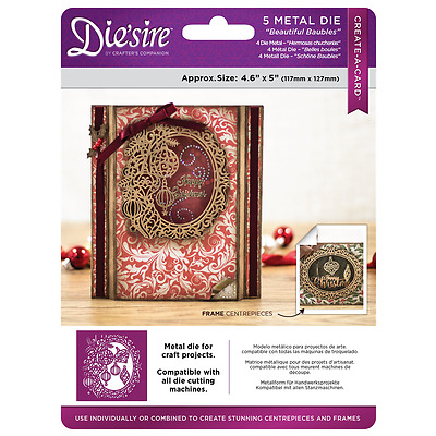 Crafters Companion BEAUTIFUL BAUBLES Create A Card Die Christmas 2017  Die'sire