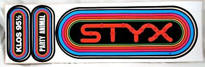 STYX 80's KLOS Rainbow Bumper Stickers Tommy Shaw Dennis De Young Party Animal