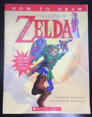 How To Draw The Legend Of Zelda Official Nintendo Scholastic Troll 2001 Book