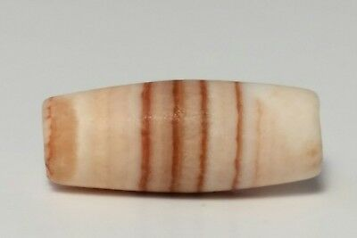 ANCIENT RARE BANDED AGATE TUBE BEAD (swat valley)
