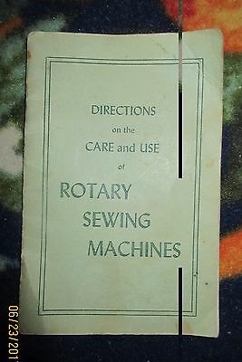 antique sewing machine manual Directions for Rotory Sewing Machines (singer)