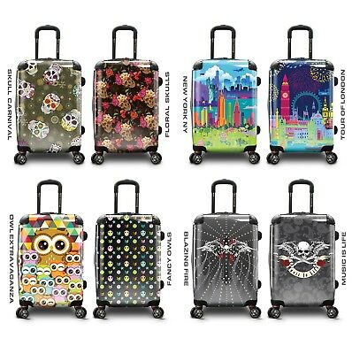 """Traveler's Choice Personalized Print 22"""" Carry-on PC Expandable Spinner Luggage"""