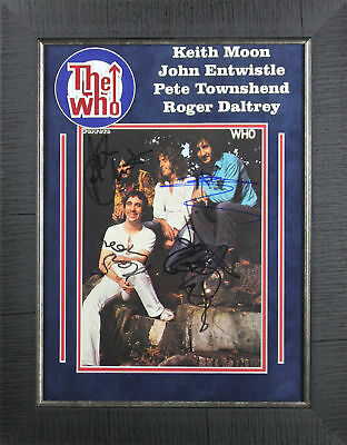 The Who (Moon, Townshend, Daltrey, Entwistle) Signed & Framed Photo PSA/DNA