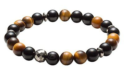 Phiten phiten bracelet crystal breath onyx & Tiger Eye 17.5cm