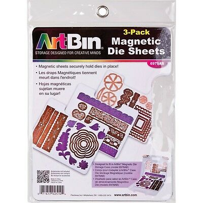 ArtBin 6979AB Magnetic Die Sheets 3-Pack New