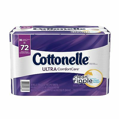 Cottonelle Ultra Comfort Care Double Roll Bath Tissue 36 Count New