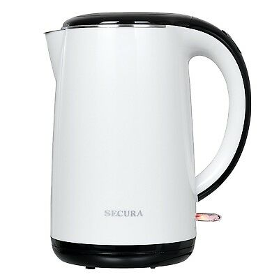 Secura 1.8 Quart Stainless Steel Electric Water Kettle Double Wall Cool T... New