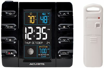 AcuRite 13020 Intelli-Time Projection Alarm Clock with Temperature and US... New
