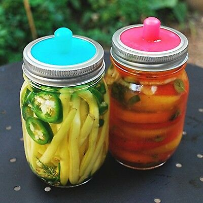 Pickle Pipe - One-Piece Silicone Waterless Fermentation Airlock Lids for ... New