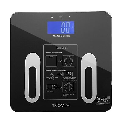 Triomph Digital BMI Body Fat Scale with Smart Step-On Technology 10 Users... New