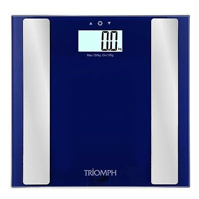 Triomph Digital Body Fat Weight Scale w/ Smart Step-On Technology 330 lbs... New