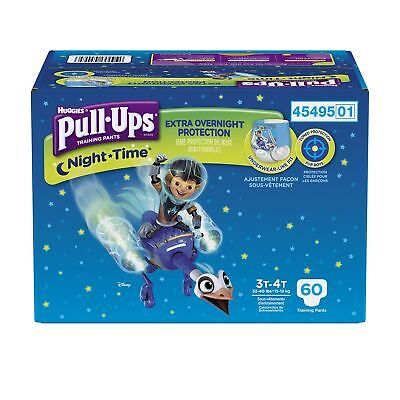 Pull ups Night-Time Training Pants 3T-4T Boy Giga Pack 60-Count New