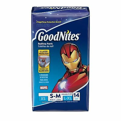 Goodnites Underwear for Boys Small/Medium Jumbo Pack 14-Count New