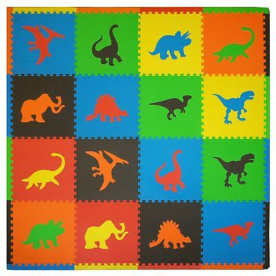 Tadpoles Playmat Set 16-Piece Dino Multi New