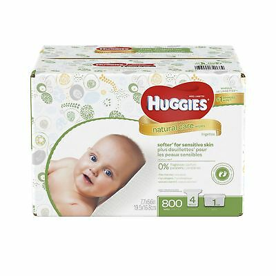 Huggies Natural Care Baby Wipes Refill 800 ct Select New