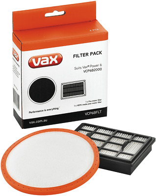 NEW Vax VCP6BFLT Filter Pack 2 pc for VCP6B2000