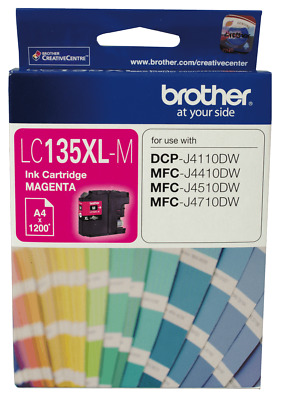 NEW Brother LC-135XLM LC-135 XL Magenta Ink Cartridge