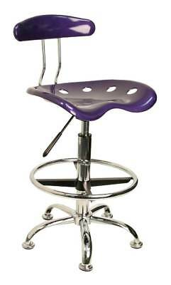 Tractor Seat Drafting Stool with Chrome Foot Ring and Base [ID 3064778]