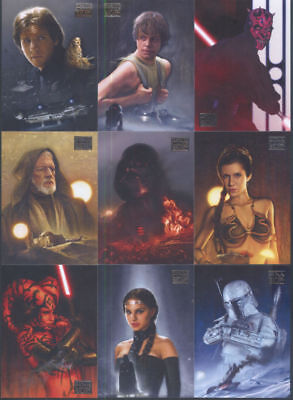 Star Wars Galaxy Series 7 - Complete Card Set (1-110) 2012 Topps @ Near Mint