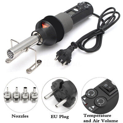 450W 220V LCD Display Electronic Heat Hot Air Gun for Soldering Station + Nozzle