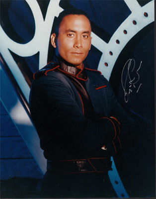 Richard Biggs SIGNED/AUTOGRAPHED Babylon 5 Promo 8x10 Photo Dr Franklin Sci-Fi