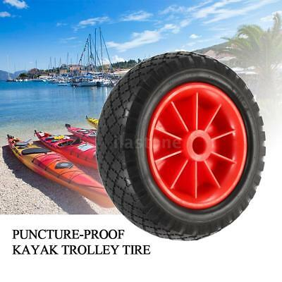 "8""/ 10"" Replacement Puncture-Proof Rubber Tyre On Wheel Kayak Trolley Cart V0D4"