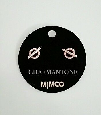 Free shipping Mimco the go to stud earrings Rose gold.