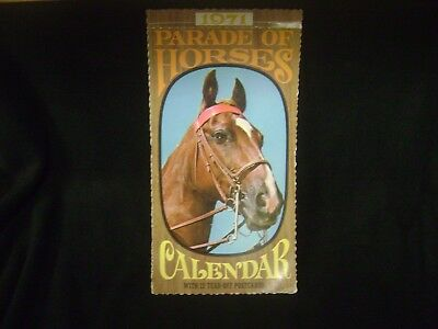 1971 Hallmark Parade Of Horses Post Card Calendar