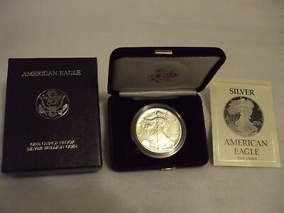 1989-S Proof American Silver Eagle Coin  - One Troy oz .999 Bullion