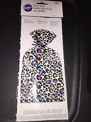 Wilton Party Bags - Cellophane baggies for treats - multi-coloured leopard print