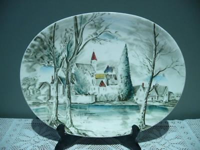 Vintage Johnson Bros England Lovely 'dream Town' Large Oval Plate - Vgc