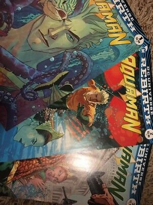 DC Universe Rebirth Aquaman lot of 3 #1-3 Great Condition!