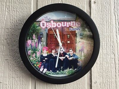 The Osbourne Family Wall Clock Sharon, Ozzy, Kids, Black, Novelty Gift Christmas