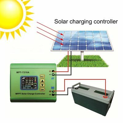 MPT-7210A LCD Display MPPT Solar Panel Battery Charge Controller 10A 48V BoostMM