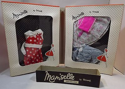 "VINTAGE 1950s MAM'SELLE BY TRI-ANG 16"" TEENAGE DOLL CLOTHES ORIGINAL FOLDING BOX"