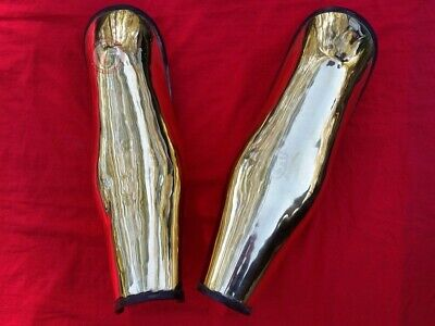 Ancient Greek Brass Greaves Re-Enactment Armour Costume