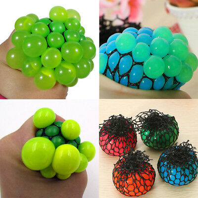 Anti Stress Face Reliever Grape Ball Autism Mood Squeeze Relief ADHD Toy Efficie