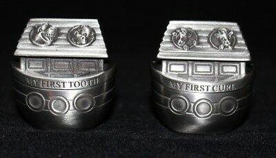 My First Tooth & Curl Noah's Ark Pewter Keepsake Baby Shower Gift Christening