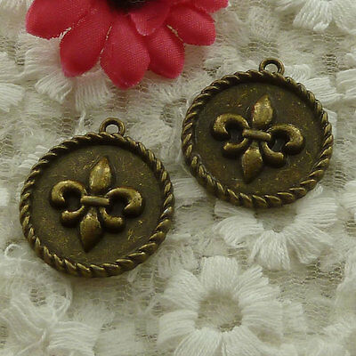 free ship 54 pieces bronze plated nice charms 27x24mm #3007