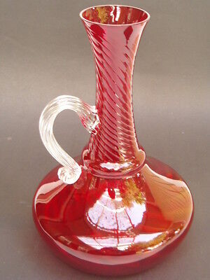 Red Glass Vessel
