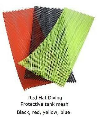 dive cylinder, tank protective mesh.heavy duty  2 sizes, 4 colours. NEW
