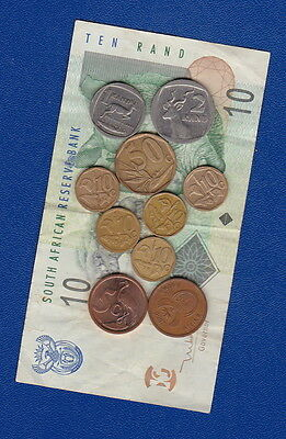 SOUTH AFRICA - 10 Rand banknote + current coins for Collectors/Travellers - Nice