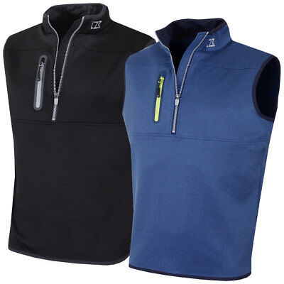 Cutter & Buck 2017 Mens Tech Half Zip Golf Mid Layer Sweater Vest